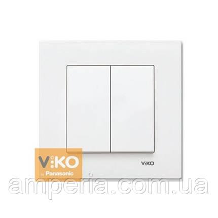 Выключатель 2-кл.белый ViKO Karre 90960002, фото 2
