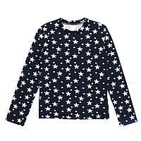 Кофта для девочки подростка G-0035 д\р синяя звёзды
