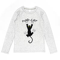 Кофта для девочки подростка G-0036 д\р c.серая MAD CAT