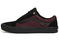 Мужские кеды Vans Old Skool Pro Shoes - Port Royale Black Red (Реплика ААА aed1674f37442