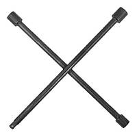 """Intertool HT-1603 Ключ баллонный крестовой укрепленный 16""""*406мм, D=16мм, 17; 19; 21; 1/2"""" профессионал"""