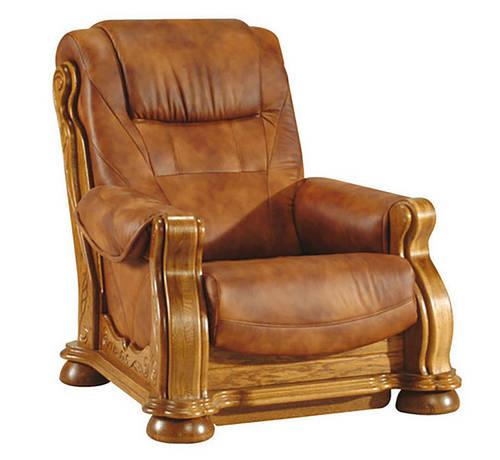 Классическое кожаное кресло - CEZAR II (105 см)