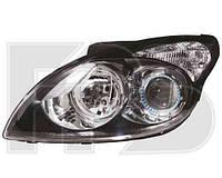 Фара передняя для Hyundai i30 Ford 10-12 левая (DEPO) черный отражатель под электрокорректор