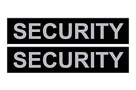 Змінний напис для шлеї SECURITY № 1, 2 та нашийника № 2