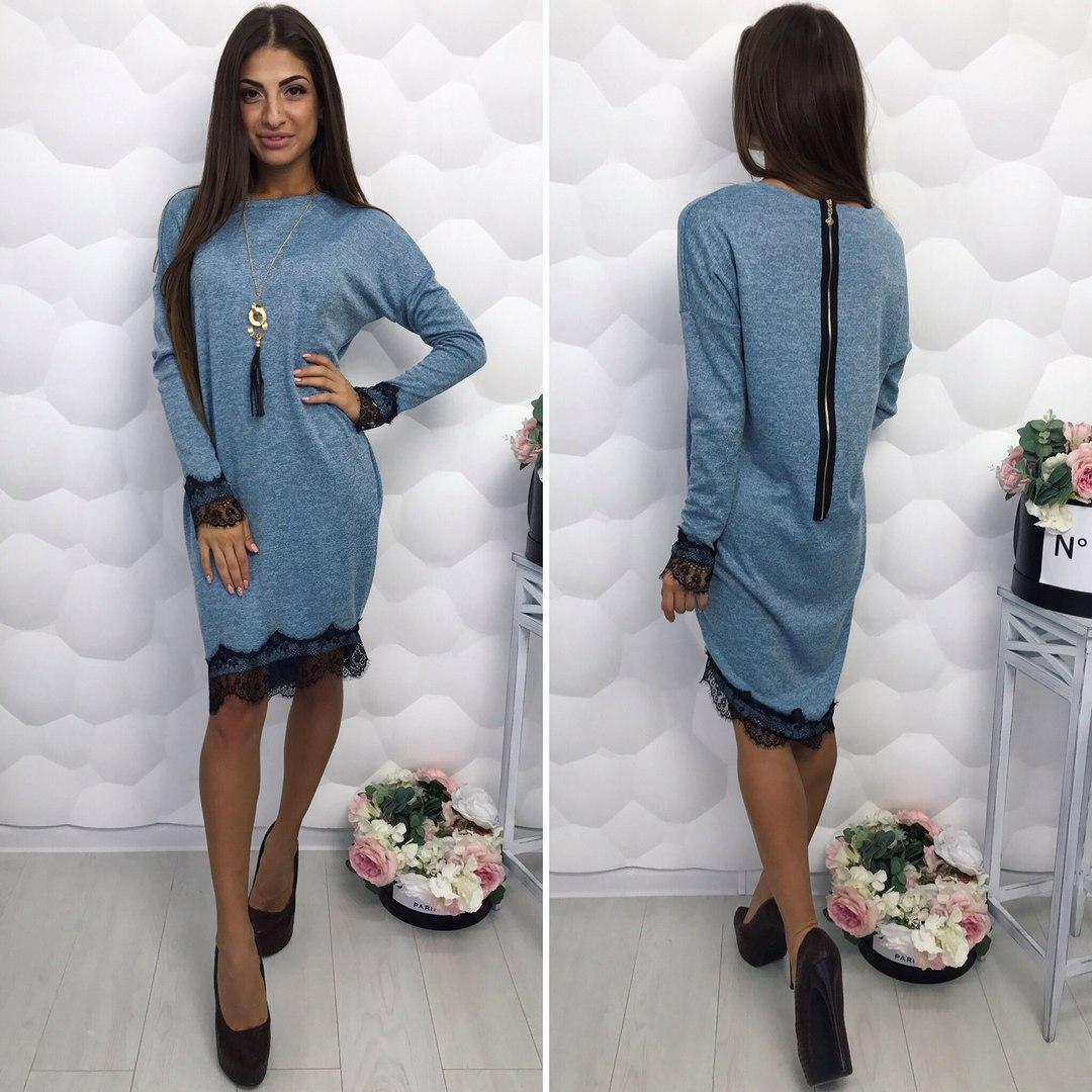 2b48e266e33 Платье трикотажное с кружевом   купить недорого по лучшим ценам ...