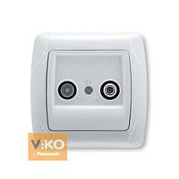 Розетка TV-спутник концевая белая ViKO Carmen 90561085