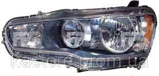Фара передняя для Mitsubishi Lancer X (10) 08- левая (DEPO) нелинзованная механическая