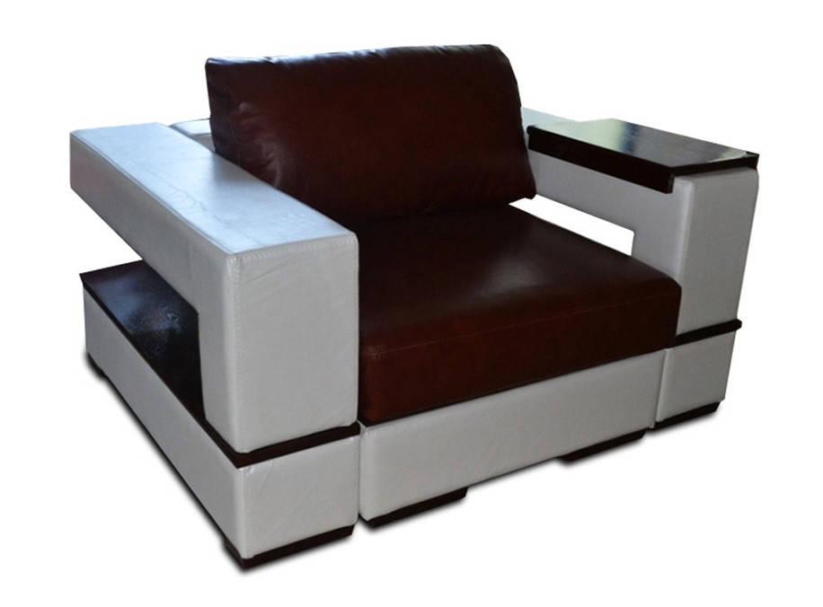 Мягкое кожаное кресло ГЕРЦОГ (130 см)