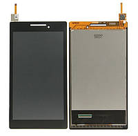 Дисплей (экран) для Lenovo A7-10 Tab 2 /A7-20F + с сенсором (тачскрином) черный