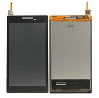 Дисплей (экран) для Lenovo A7-10 Tab 2 /A7-20F + с сенсором (тачскрином) черный Оригинал