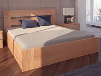 """Кровать из натурального дерева """"Лондон с механизмом"""" ТМ ХМФ"""
