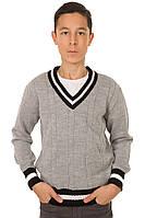 Джемпер для мальчика Стю светло-серый
