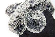 Женские перчатки стрейч+кролик БОЛЬШОЙ, фото 2