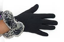 Женские перчатки стрейч+кролик БОЛЬШОЙ, фото 3