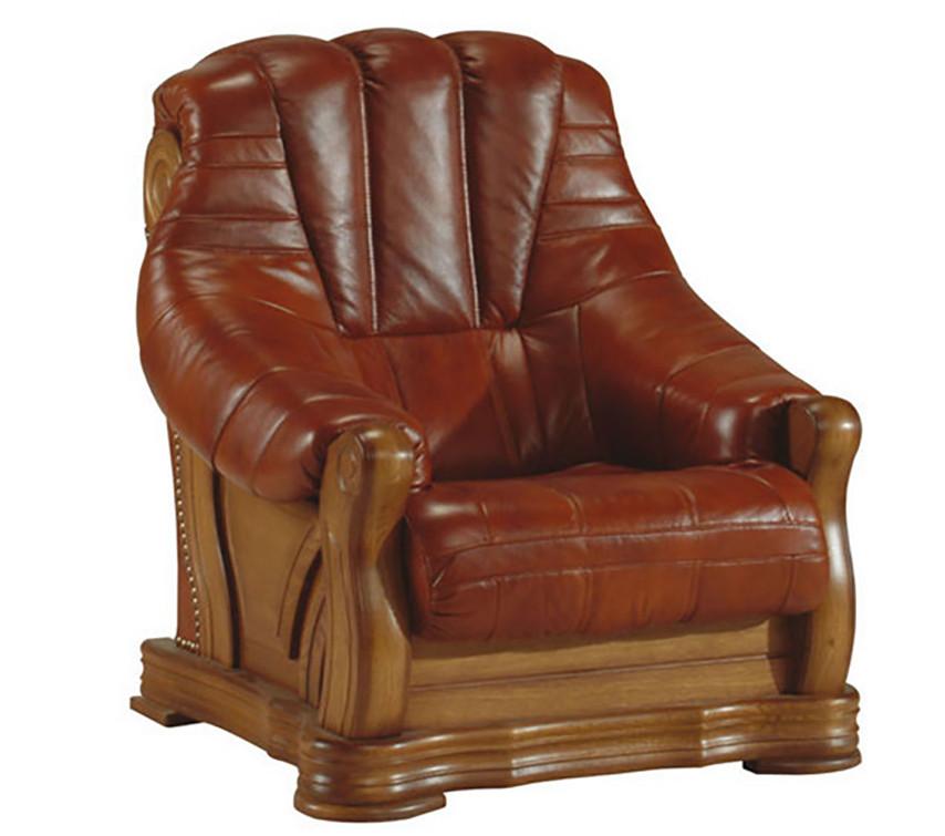 Нове шкіряне крісло FRYDERYK II (90 см)