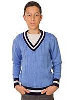 Джемпер для мальчика Стю голубой