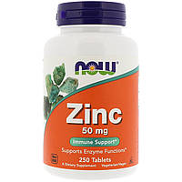 NOW Цинк Гликонат Zinc Gluconate 50 mg 250 tabs