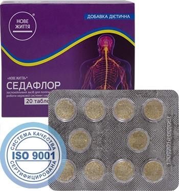 Седафлор - для профилактики и оптимизации лечения заболеваний нервной и сердечно-сосудистой систем -  Интернет-магазин «Здоровая Жизнь»  в Киеве