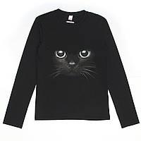 Кофта для девочки подростка G-0038 д\р чёрная CAT