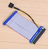 Райзер Riser PCI-E 16x to 16x удлинитель шлейф для видеокарты  с разъемом питания моллекс, фото 2