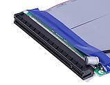 Райзер Riser PCI-E 16x to 16x удлинитель шлейф для видеокарты  с разъемом питания моллекс, фото 5