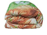 Одеяло полуторное на овечьей шерсти 150х215