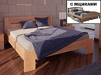 """Кровать из натурального дерева """"Орландо с ящиками"""" ТМ ХМФ"""
