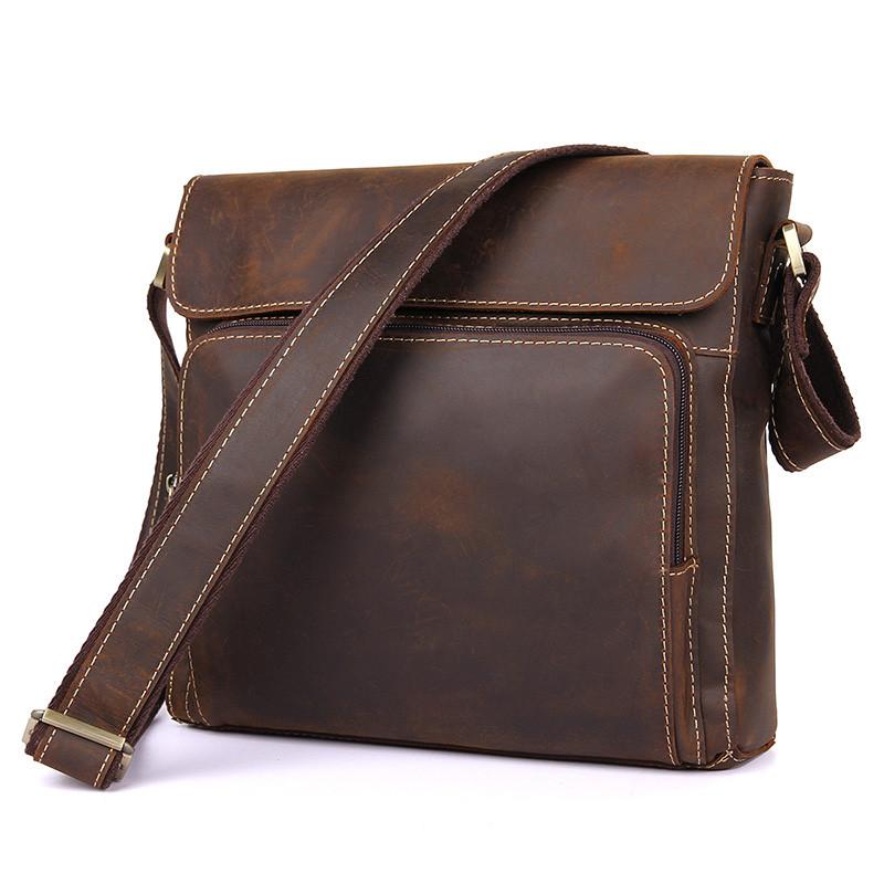 26f08cefddaa Мужская сумка из лошадиной кожи 7051R - Интернет-магазин мужских  аксессуаров I-MAN в