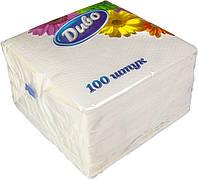 Салфетки белые 100 шт.