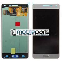 Оригинальный Дисплей (Модуль) + Сенсор (Тачскрин) для Samsung SM-A500H Galaxy A5 service (Серебристый)