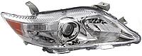 Фара передняя для Toyota Camry V40 06-11 левая (DEPO) механическая американская версия, хромированный отражатель