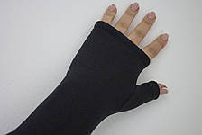 Женские перчатки стрейч без пальцев длинные БОЛЬШИЕ, фото 2