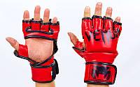 Перчатки для смешанных единоборств MMA FLEX VENUM ELITE NEO VL-5788-R (р-р M-XL, красный)