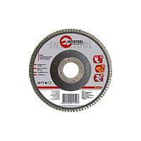 Intertool BT-0210 Диск шлифовальный лепестковый 125*22мм, зерно K100