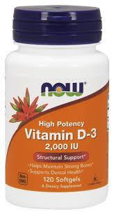 Витамин Д NOW Витамины и Минералы Vitamin D-3 2000 IU 120 softgels