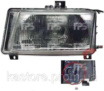 Фара передняя для Volkswagen Caddy 99-04 левая (DEPO) механическая/под электрокорректор