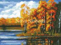 Рисунок на канве для вышивки нитками мулине ММ-3011 Золотая осень