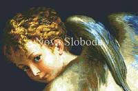 Рисунок на канве для вышивки нитками мулине ММ-3015 Ангел