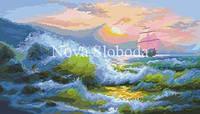 Рисунок на канве для вышивки нитками мулине ММ-3063 В море