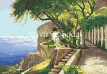 Рисунок на канве для вышивки нитками мулине ММ-3077 Античная аллея