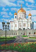 Рисунок на канве для вышивки нитками мулине ММ-3101 Храм Христа Спасителя