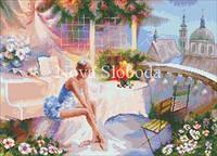 Рисунок на канве для вышивки нитками мулине ММ-3102 Балерина