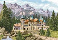 Рисунок на канве для вышивки нитками мулине ММ-3215  Замок в предгорьях