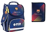 """Комплект. Рюкзак школьный каркасный Barcelona BC17-501S + пенал ТМ """"Kite"""""""