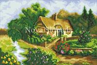 Рисунок на канве для вышивки нитками мулине ММ-4207  Дом у ручья