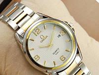 Часы Omega quartz Silver-gold