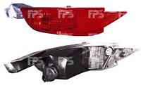 Фонарь задний для Ford Fiesta 09- левый (DEPO) в бампере, с противотуманной фарой