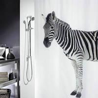 Шторка для ванной «Зебра»