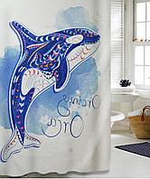 """Шторка для ванной тканевая """"Дельфин"""""""