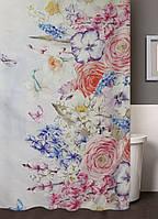 """Шторка для ванной тканевая """"Цветочное утро"""""""